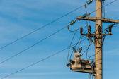 Electricity pole — Стоковое фото