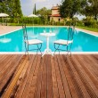 Stock Photo: Pool in Tuscany