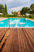 Pool in Tuscany — Stock Photo