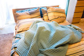 Cozy bed — Stock Photo