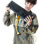 Hating home computing — Stock Photo #28835515