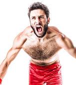 Raging boxer — Stock Photo