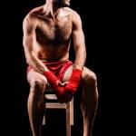 Boxer ove black — Stock Photo