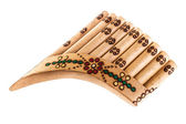 Ornated pan flute — Stockfoto