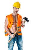 Lavoratore manuale — Foto Stock