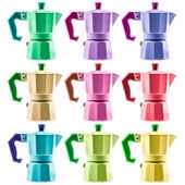 Coffee pots collection — Stock Photo