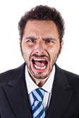 Shouting businessman — Stock Photo