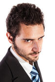 Businessman's glare — Stock Photo