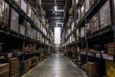 Dark warehouse — Stock Photo