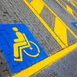 disabled parking — Stock Photo
