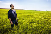Standing in the grass — Stock Photo