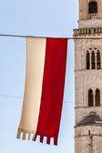 Medieval flag — Stock Photo