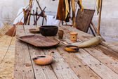 Middle ages table — Stock Photo