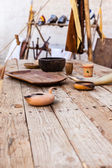 Tavola medievale — Foto Stock