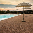 Poolside dusk — Stock Photo