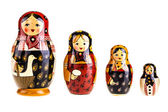 Matryoshka dolls family — Stock Photo
