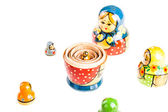 Russian Matryoshka doll — Stock Photo
