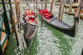 Two gondolas — Stock Photo