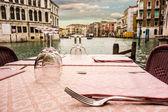 Cena en Venecia — Foto de Stock