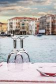 Venetian dinner — Stock Photo