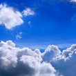 Blue Sky and Clouds Storm dark thunder cloud - Stock Photo