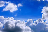 Blue Sky and Clouds Storm dark thunder cloud — Stock Photo