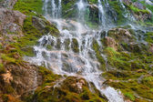 Waterfall in rocky Mountains Caucasus — 图库照片