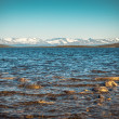 Stock Photo: ImandrLake and Hibiny mountains Northern Landscape