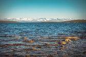 Imandra Lake and Hibiny mountains Northern Landscape — Stock Photo