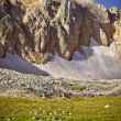 Stock Photo: Rocky Mountains with glacier snow beautiful Landscape summer Caucasus nature
