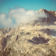 Stock Photo: Rocky Mountains with clouds sky and glacier snow beautiful Landscape Caucasus nature