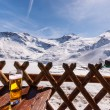 Austrian Hintertux ski resort — Stock Photo