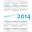 Pocket russian 2014 calendar — Stock Vector