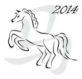 Vector horse 2014 — Stock Vector