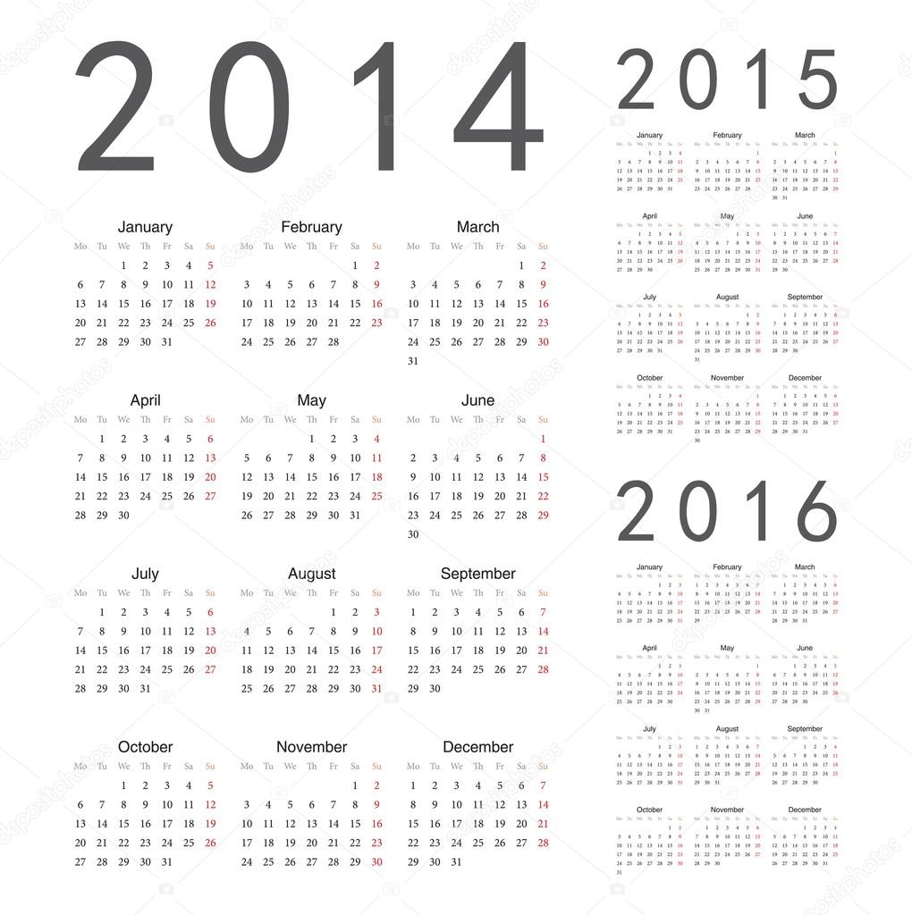 Best stock photos of Calender of 2014 year vector.