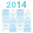 European 2014 year vector calendar — Stock Vector
