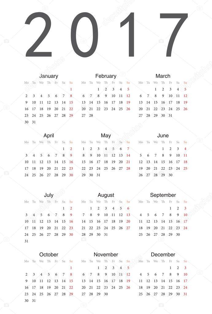 2017 Calendar Google