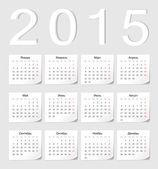 Russian 2015 vector calendar — Stock Vector