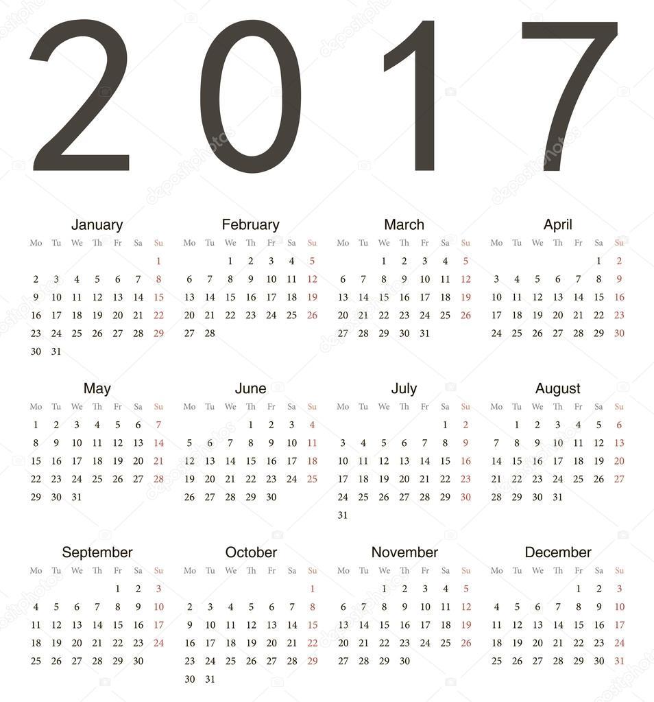 Calendar 2017 Eps