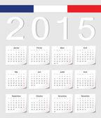 French 2015 calendar — Stock Vector