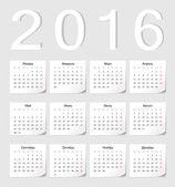 Russian 2016 calendar — Stock Vector