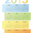 European color vector calendar 2015 — Stock Vector #46283405