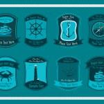 Decorative Nautical Set — Stock Vector #11943120