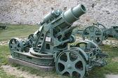 Italian gun of the First World War — Stock Photo