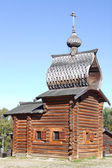 Wooden chapel in the ethnographic museum Taltsy — Stock Photo