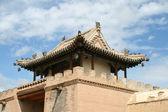 Azotea de edificios de granja de un templo budista en mongolia — Foto de Stock