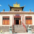 The building of Buddhist schools in the monastery in Mongolia - Stock Photo