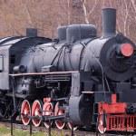 Old steam locomotive on the circle-Baikal railway — Stock Photo