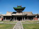 Das gebäude des tempels in das gebiet der mongolei — Stockfoto