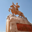 Sukhbaatar monument Bator in Mongolia&#039;s capital, Ulaanbaatar - Stock Photo